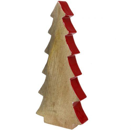 Weihnachtsdeko österreich.Weihnachtsdeko Tannenbaum Holz Rot Natur 28cm