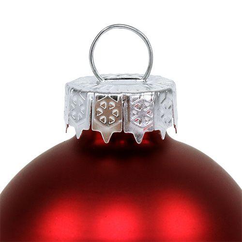 Weihnachtskugel Glas Ø6cm Rot Mix 24St