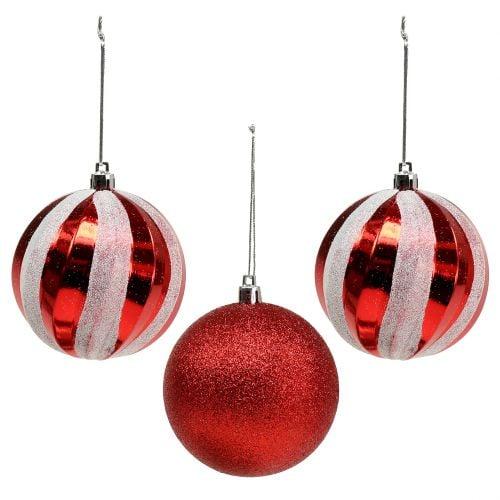 Günstige Christbaumkugeln.Christbaumkugeln Rot Mix Glas 13 St Günstig Zweite Wahl