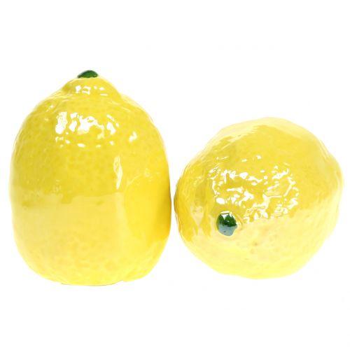 Zitrone Keramik 7cm 3St