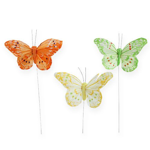Deko-Schmetterlinge am Draht 10cm 12St einkaufen in Österreich