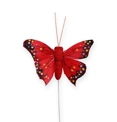 Deko-Schmetterling am Draht Farbig sort. 5cm 24St einkaufen in ...