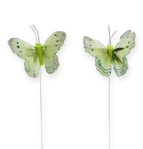 Deko-Schmetterling am Draht Grün 8cm 12St einkaufen in Österreich