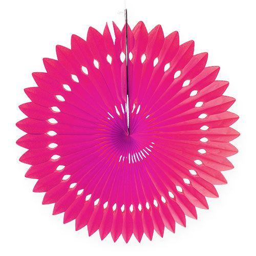 Party-Deko Wabenpapier Blume Pink Ø40cm 4St