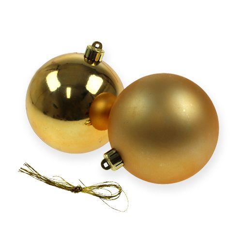 Plastik Christbaumkugeln.Christbaumkugeln Plastik Gold 8cm 6st