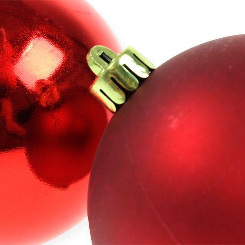Christbaumkugeln Plastik Rot 8cm 6St