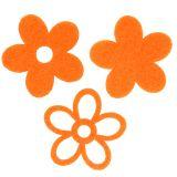 Filzblume 4cm Orange 72St