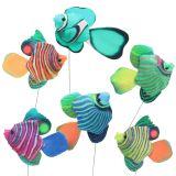 Dekostecker Fisch bunt sortiert 6St