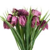 Schachbrettblumen Fritillaria künstlich Lila 29cm 6St