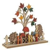 Deko-Aufsteller Herbst-Diorama 22,5cm x 20cm 2St