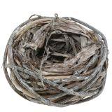 Osternest aus Zweigen Natur, Weiß gewaschen Ø13cm 3St