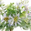 Deko-Blumenstrauß, Seidenblumen Lila, Frühlingsdeko, Künstliche Astern Nelken und Eukalyptus