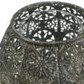 Windlicht Orient Antik Silber Ø13cm H9,5cm