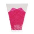 Blumentüte Jute-Muster Pink L40cm B12-30cm 50St